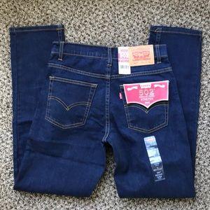 NWT Levi's 502 taper leg jeans / dark wash / 14